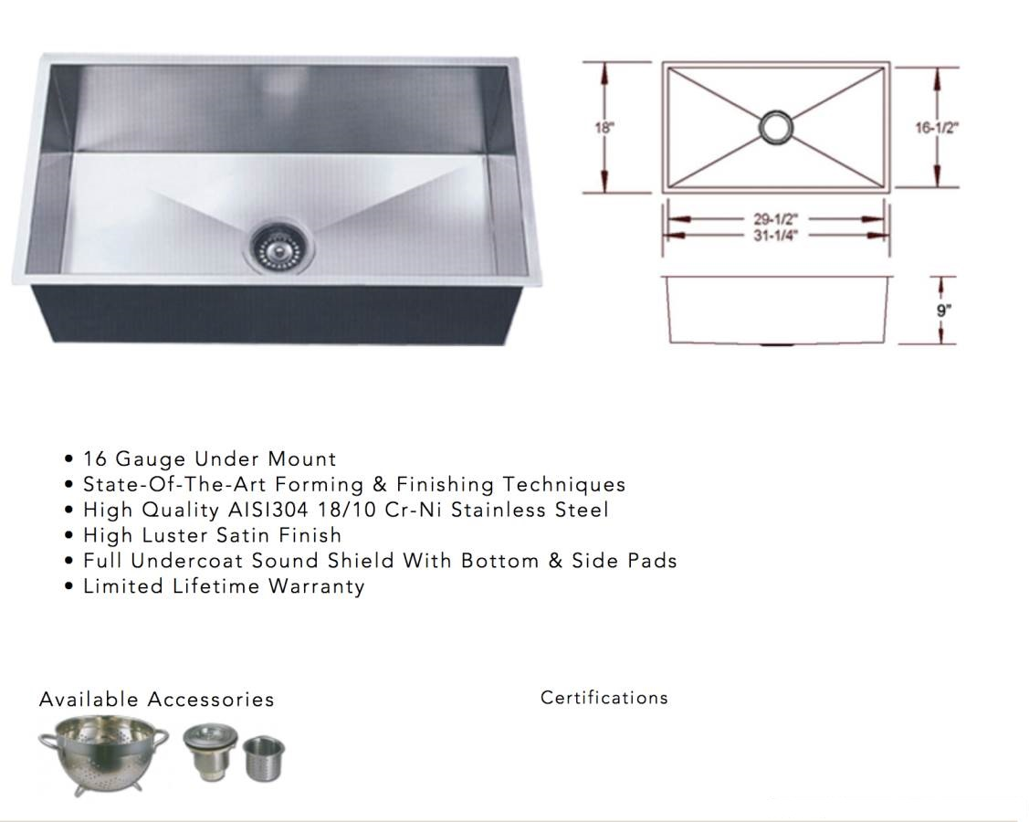 file showing stainless steel under mount sink