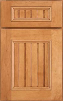 image of cabinet door with a beaded panel