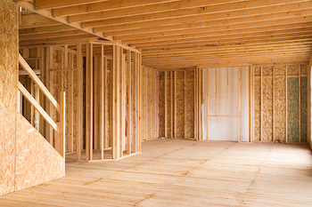 image showing home remodel during the framing process
