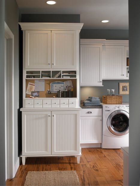 image of thermofoil laundry room cabinets in gig harbor, wa