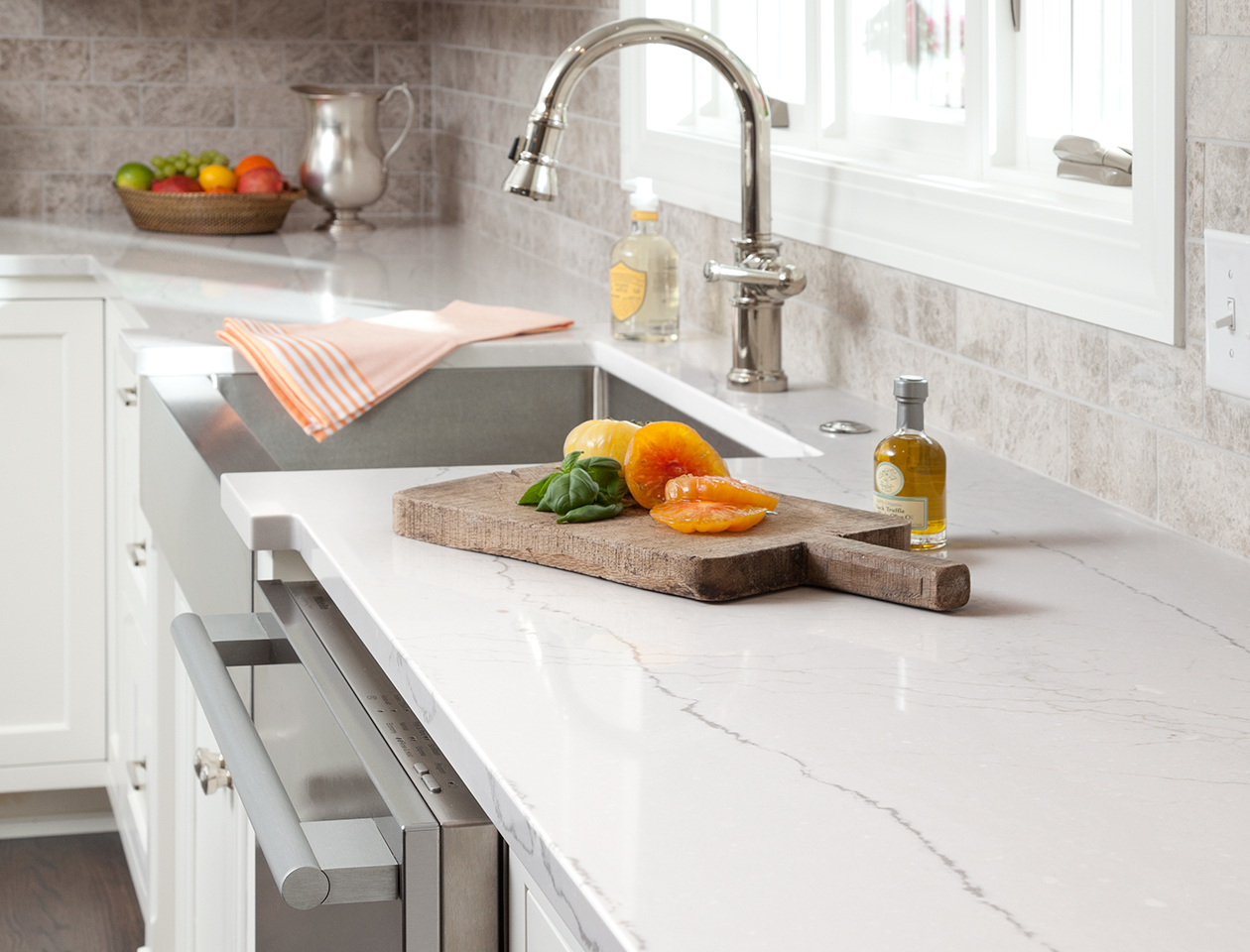 Photo Of A Quartz Countertop