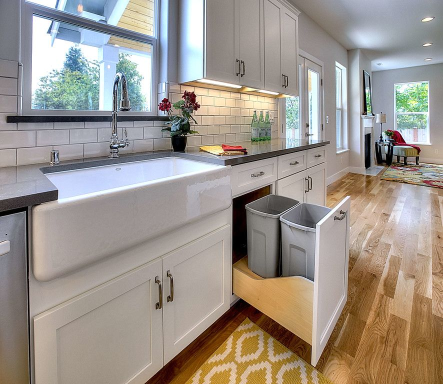 White Shaker Cabinets With Gray Island, White Shaker Kitchen Cabinets With Gray Island