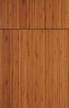 Bella in Bamboo with a natural finish.  Available in frameless cabinetry only.