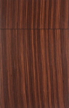 Bella shown in Rosewood Natural.  Available in frameless cabinetry only.