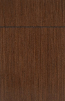 Bella shown in Wenge Natural.  Available in frameless cabinetry only.