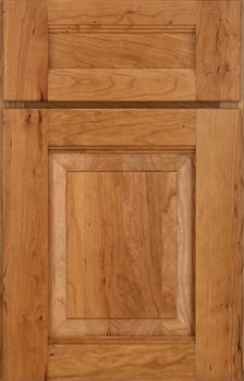 Brockton Raised Panel Available in Cherry, Hickory, Knotty Alder, Maple, Rustin Maple, Oak, and Quartersawn OakCherryNatural