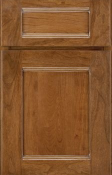 Brockton Reverse Raised Panel Available in Cherry, Hickory, Knotty Alder, Maple, Rustin Maple, Oak, and Quartersawn Oak