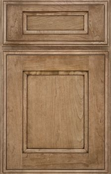 Colby Flat Panel Available in Cherry, Hickory, Knotty Alder, Maple, and Oak