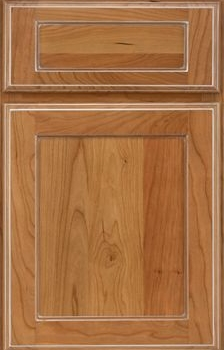 Crowley Reverse Raised Available in Cherry, Hickory, Knotty Alder, Maple, Rustic Maple, and Oak