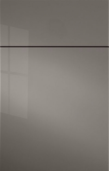 Gibson Acrylic High Gloss Paint.  Shown in Brushed Sterling. Available in Frameless cabinetry only.