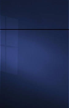 Gibson Acrylic High Gloss Paint.  Shown in Cornflower Blue. Available in Frameless cabinetry only.