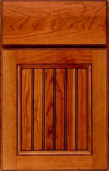 Evan Beaded Panel Available in Cherry, Hickory, Knotty Alder, Maple, Rustic Maple, and Oak