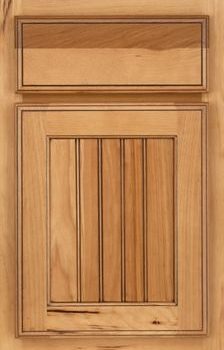 Higgins Beaded Panel Available in Cherry, Hickory, Knotty Alder, Maple, Rustic Maple, and Oak
