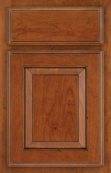 Higgins Raised Panel Available in Cherry, Hickory, Knotty Alder, Maple, Rustic Maple, and Oak