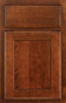 Higgins Reverse Raised Panel Available in Cherry, Hickory, Knotty Alder, Maple, Rustic Maple, and Oak