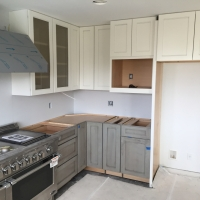 Gray lower cabinets in Tacoma WA