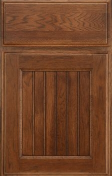 Jefferson Beaded Panel Available in Cherry, Hickory, Knotty Alder, Maple, Rustic Maple, and Oak