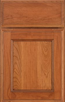 Jefferson Reverse Raised Panel Available in Cherry, Hickory, Knotty Alder, Maple, Rustic Maple, and Oak