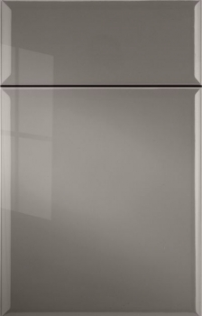 Leighton Thermofoil shown in Brushed Sterling.  Available in frameless cabinetry only.