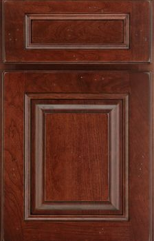 Mallory Raised Panel Available in Cherry, Hickory, Knotty Alder, Maple, Rustic Maple, and Oak