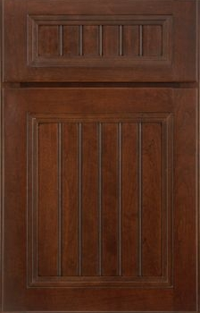 Morris Beaded Panel Available in Cherry, Hickory, Knotty Alder, Maple, Rustic Maple, Oak, and Quartersawn Oak