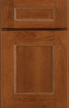 Rochelle Flat Panel Available in Cherry, Hickory, Knotty Alder, Maple, Rustic Maple, and Oak
