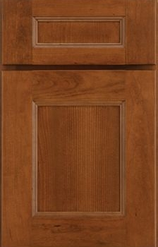 Rochelle Reverse Raised Panel Available in Cherry, Hickory, Knotty Alder, Maple, Rustic Maple, and Oak