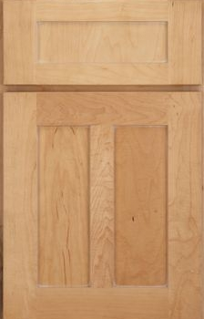 Salinger Flat Panel Available in Cherry, Hickory, Knotty Alder, Maple, Rustic Maple, Oak, and Quartersawn Oak