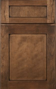 Shaw Flat Panel Available in Cherry, Hickory, Knotty Alder, Maple, Rustic Maple, and Oak
