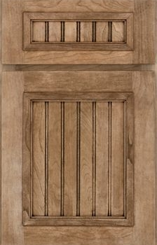 Wells Beaded Panel Available in Cherry, Hickory, Knotty Alder, Maple, Rustic Maple, and Oak