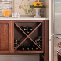 image of cabinet with built in wine cube