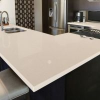 Pebble Rock quartz countertops