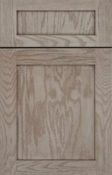 Shaw shown in Oak, Peppercorn Stain.  Available in Maple, Cherry, Hickory, Oak, Knotty Alder, and Rustic Maple