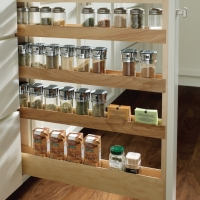 Keep everyday spices organized with a pullout spice rack.