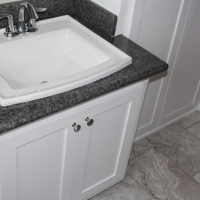 Granite countertops and sink - New Leaf Cabinets