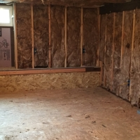 Framing and insulation in Tacoma