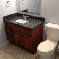 Bathroom remodeling project - New Leaf Cabinets