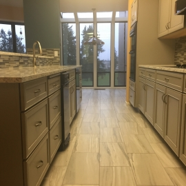 Galley Gray - Gray Kitchen Cabinets and Quartz Counters - Tacoma, WA